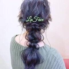 ヘアアレンジ パーティ エレガント 編みおろし ヘアスタイルや髪型の写真・画像