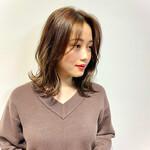 韓国ヘア ミルクティーベージュ 大人かわいい フェミニン