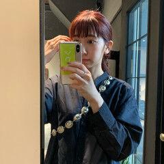 ぱっつん ミディアム 簡単ヘアアレンジ セルフヘアアレンジ ヘアスタイルや髪型の写真・画像