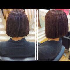 ボブ オフィス 髪質改善カラー 髪質改善 ヘアスタイルや髪型の写真・画像