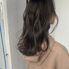 ヘアカラー コンサバ 圧倒的透明感 セミロング ヘアスタイルや髪型の写真・画像