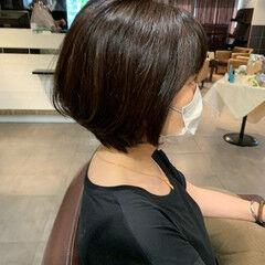 大人ショート ショート 黒髪ショート ショートボブ ヘアスタイルや髪型の写真・画像
