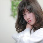 フェミニン ミディアム コテ巻き モテ髪