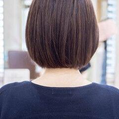 30代 大人ハイライト ボブ 40代 ヘアスタイルや髪型の写真・画像
