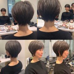 ナチュラル ショート 30代 田丸麻紀 ヘアスタイルや髪型の写真・画像