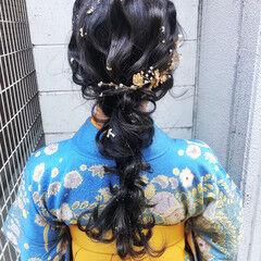 結婚式 卒業式 ロング 成人式ヘア ヘアスタイルや髪型の写真・画像