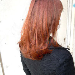 3Dハイライト フェミニン インナーカラー うぶ毛ハイライト ヘアスタイルや髪型の写真・画像