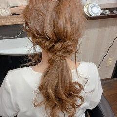 ナチュラル ヘアアレンジ ふわふわヘアアレンジ 簡単ヘアアレンジ ヘアスタイルや髪型の写真・画像