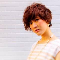 アンニュイ ベース型 大人女子 パーマ ヘアスタイルや髪型の写真・画像