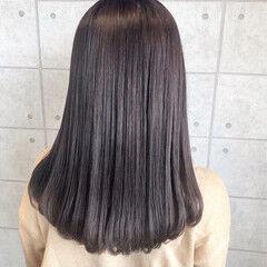 クリーミーカラー イルミナカラー 透明感カラー ミディアム ヘアスタイルや髪型の写真・画像