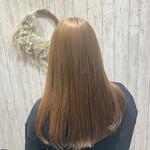 ブラウンベージュ 髪質改善トリートメント ミルクティーベージュ ロング