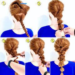 ヘアアレンジ ハーフアップ ヘアセット エレガント ヘアスタイルや髪型の写真・画像
