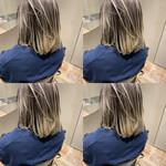 ミディアム モード インナーカラー ショートヘア