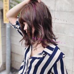 韓国ヘア オルチャン 切りっぱなしボブ タンバルモリ ヘアスタイルや髪型の写真・画像