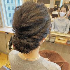 ふわふわヘアアレンジ 上品 ヘアセット ナチュラル ヘアスタイルや髪型の写真・画像