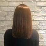 シナモンベージュ 縮毛矯正 ナチュラル 髪質改善トリートメント
