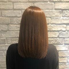 シナモンベージュ 縮毛矯正 ナチュラル 髪質改善トリートメント ヘアスタイルや髪型の写真・画像
