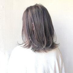 透明感 デート ミディアム ツヤ髪 ヘアスタイルや髪型の写真・画像