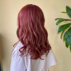 韓国ヘア セミロング バレイヤージュ 透明感カラー ヘアスタイルや髪型の写真・画像