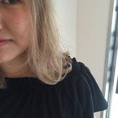 ストリート ミディアム 外国人風カラー 金髪 ヘアスタイルや髪型の写真・画像