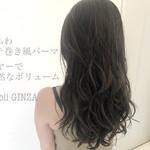 ヘアスタイル コテ巻き風パーマ デジタルパーマ ナチュラル