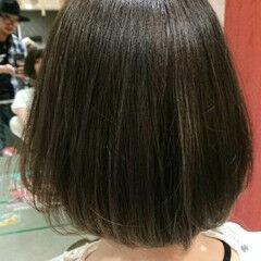 デート ナチュラル ボブ 秋 ヘアスタイルや髪型の写真・画像