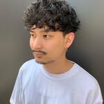 無造作パーマ 黒髪 ストリート メンズヘア