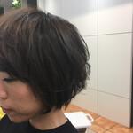 アッシュグレージュ 暗髪 コンサバ ハイライト