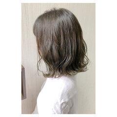 大人女子 セミロング 透明感 フェミニン ヘアスタイルや髪型の写真・画像