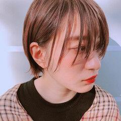 ショート ショートボブ グレーベージュ パーマ ヘアスタイルや髪型の写真・画像