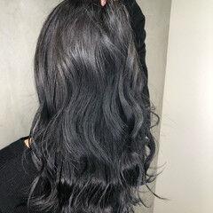 パーマ アンニュイほつれヘア グレージュ ロング ヘアスタイルや髪型の写真・画像