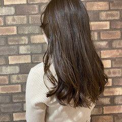 透明感 ナチュラル 大人ロング イルミナカラー ヘアスタイルや髪型の写真・画像