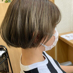 シースルーバング 小顔ショート 外国人風カラー ショート ヘアスタイルや髪型の写真・画像