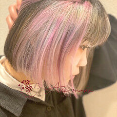 ガーリー ボブ 切りっぱなしボブ ショートヘア ヘアスタイルや髪型の写真・画像