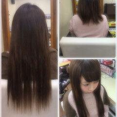 ロング 男ウケ ガーリー エクステ ヘアスタイルや髪型の写真・画像