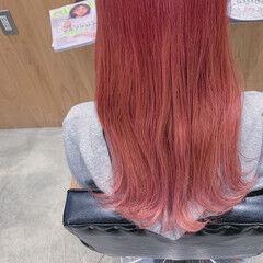 ベリーピンク ピンク ピンクベージュ ピンクアッシュ ヘアスタイルや髪型の写真・画像