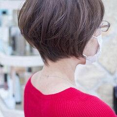 大人かわいい ショートボブ フェミニン ハンサムショート ヘアスタイルや髪型の写真・画像