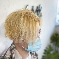 メンズ 韓国風ヘアー メンズヘア エレガント ヘアスタイルや髪型の写真・画像