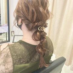 結婚式髪型 セミロング ヘアアレンジ 結婚式ヘアアレンジ ヘアスタイルや髪型の写真・画像
