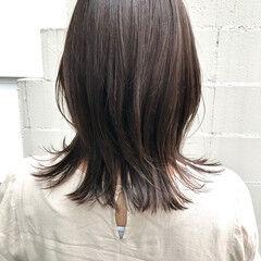 透明感カラー フェミニン イルミナカラー ナチュラルウルフ ヘアスタイルや髪型の写真・画像