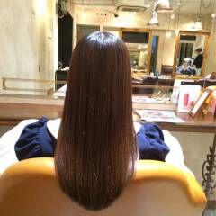 暗髪 艶髪 秋 ロング ヘアスタイルや髪型の写真・画像