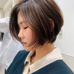 似合わせカット グラボブ ショートボブ PEEK-A-BOO ヘアスタイルや髪型の写真・画像