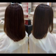 髪質改善 髪質改善トリートメント 大人ミディアム ナチュラル ヘアスタイルや髪型の写真・画像