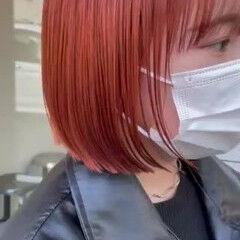 ミニボブ ハイトーンカラー ボブ ショートヘア ヘアスタイルや髪型の写真・画像
