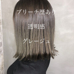 エレガント 大人かわいい 韓国ヘア 透明感カラー ヘアスタイルや髪型の写真・画像