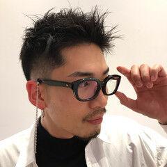 ナチュラル メンズショート スキンフェード メンズカット ヘアスタイルや髪型の写真・画像