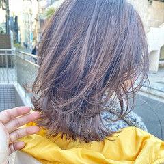 大人ミディアム ミディアムレイヤー ナチュラル アイロンワーク ヘアスタイルや髪型の写真・画像