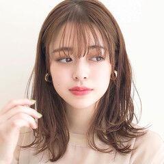 ミディアム デート アンニュイほつれヘア モテ髪 ヘアスタイルや髪型の写真・画像