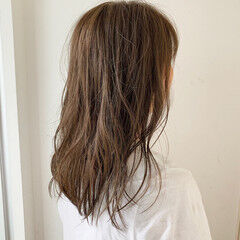 セミロング デート 大人女子 大人可愛い ヘアスタイルや髪型の写真・画像