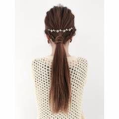 ヘアアレンジ ガーリー ローポニーテール ヘアスタイルや髪型の写真・画像